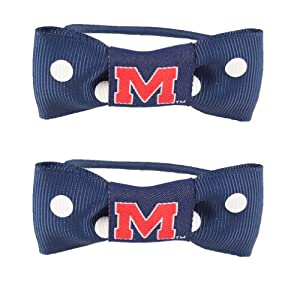 Buy NCAA Mississippi Rebels Bow Pigtail Holder by Littlearth