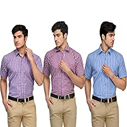 Vicbono Men's Formal Shirt Pack of 3 - 123-L