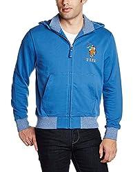 U.S.Polo.Assn. Men's Cotton Sweatshirt (8907259139937_USSS0512_XL_Bright Cobalt)