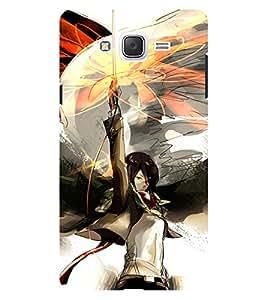Chiraiyaa Designer Printed Premium Back Cover Case for Samsung Galaxy On7 (ninja fighting) (Multicolor)