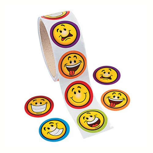 Happy Expressions Sticker Roll, roll of 100