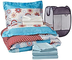 Pinzon 9-Piece Bed In A Bag with Hamper - Full/Queen, Nori