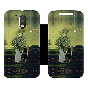 Skintice Designer Flip Cover with Vinyl wrap-around for Motorola Moto G4 Plus, Design - Love