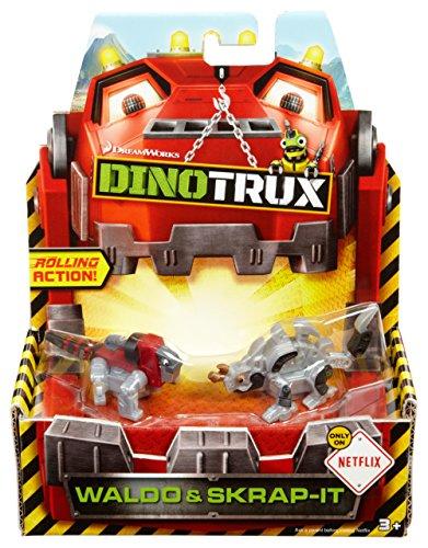 Dinotrux Diecast Basic Car Scrap-It & Waldo Vehicle (2 Pack)