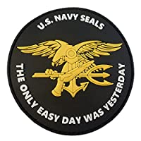 US Marine Navy Seals The Only Easy Day Was Yesterday SOCOM DEVGRU PVC 3D Velcro Écusson Patch