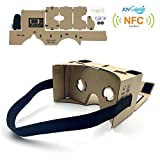 "Google Cardboard,JoyGeek VR Headset 3D Glasses Virtual Reality Glasses for 3.5-6""Inch Cellphones iOS Apple iPhone and Android Smartphones with Headband,NFC and Magnet(DIY Version)"
