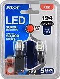 Pilot Automotive (IL-194R-5-AM) Red 5-SMD LED Dome Light Bulb - 2 Piece
