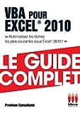 VBA pour Excel® 2010