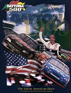 NASCAR Canvas 36 x 48 Daytona 500 Program Print Race Year: 41st Annual - 1999 by Mounted Memories