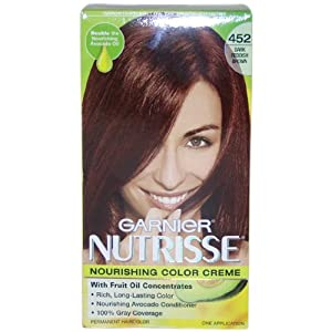 Garnier Nutrisse Haircolor, 452 Dark Reddish Brown Chocolate Cherry
