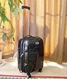 ポリカーボネイト100%旅行用スーツケースSサイズ(光沢ブラック)機内持ち込可能