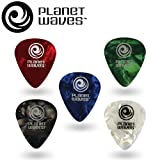 Planet Waves Assorted Pearl Celluloid Guitar Picks, 10 pack, Light