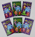 Pack of 12 Monster Mini Spiral Notebo...