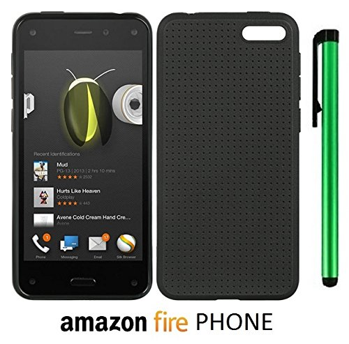 Amazon Fire Phone Flex Tpu Dot Design Back Cover Case (Us Carrier: At&T; Released In July 2014) + 1 Of New Assorted Color Metal Stylus Touch Screen Pen (Black)