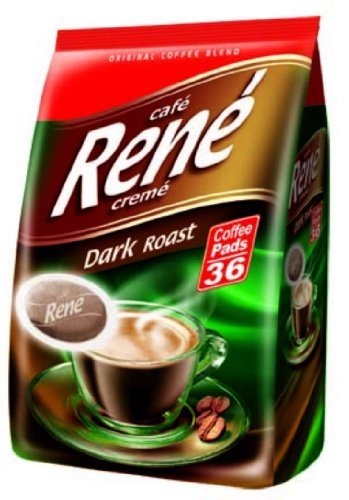 Buy Café Rene Cremé Dark Roast Coffee Pads 252 g (Pack of 2, Total 72 Coffee Pads) from GroceryCentre