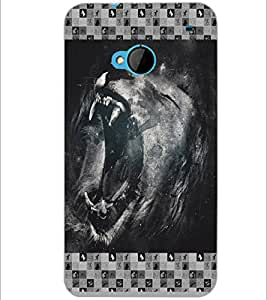 PrintDhaba Roaring Lion D-6026 Back Case Cover for HTC ONE M7 (Multi-Coloured)