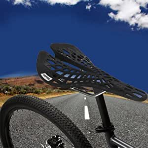 YAFEE - 1011 Road MTB Bike Saddle Araneose Hollow Seat Cushion - BLACK