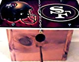 1 , 49er's Cedar Bird House, with a , SAN FRANCISCO FORTY-NINERS, Metal Sign, Roof, 1.25in. Opening+With+Perch+With+Chain+11B+29B5.0,,1901