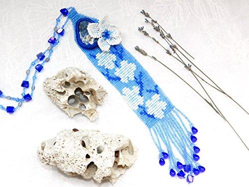 blaue-perlen-halskette-blumen-halsband-halskette-charme-japanisch-sakura-schmuck-geschenk-fur-sie-bo