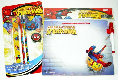 Spiderman Spider Sense Dryerase Board & 5pc Stationary Set - 1
