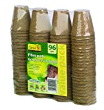 Gardman 6cm Fibre Pots Round Value Pack (Pack of 96)