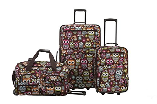 rockland-3-piece-luggage-set-owl-one-size