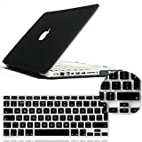 IDACA Black Frosted Matte Hard Shell Case Cover for Macbook Pro 13.3 -inch A1278 Aluminum Unibody with Silicone Keyboard Cover Skin Stickers Protector (European Version)