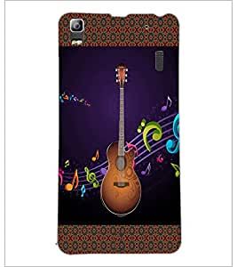 PrintDhaba Guitar D-5731 Back Case Cover for LENOVO A7000 TURBO (Multi-Coloured)