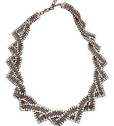 buy Honeyjoy Lady Upscale Bohemia Style Triangular Crystal Necklace
