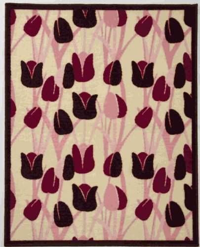 Beansprout Talullah Rug, Pink/Maroon (Discontinued by Manufacturer)
