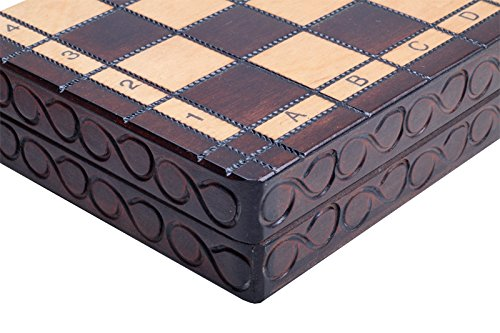 The Delbog Wood Chess Set with Chess Board and Storage 4