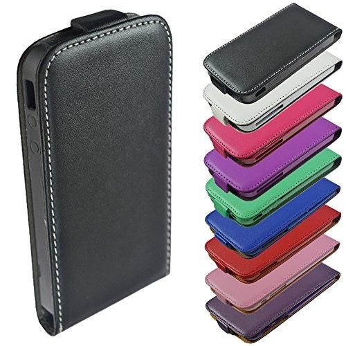 Für Sony Xperia Flip Handy Tasche Case Flip Cover Hülle Etui Klapptasche Xperia J St26i Schwarz