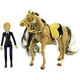 lansay 12059 figurine chevaux avec personnages articules avec accessoire marie et. Black Bedroom Furniture Sets. Home Design Ideas