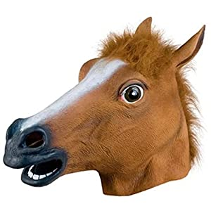 Fajiabao Funny Masquerade Party Halloween Gift Bar Decoration Overhead Horse Head Mask from Fajiabao