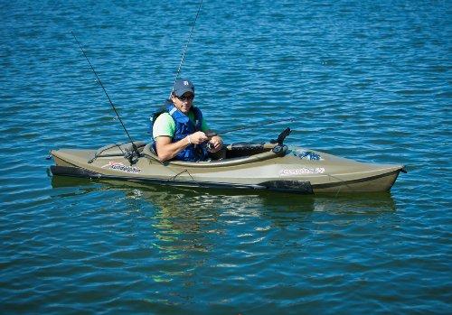 Sun dolphin excursion sit in fishing kayak olive 10 feet for Sun dolphin fishing kayak accessories
