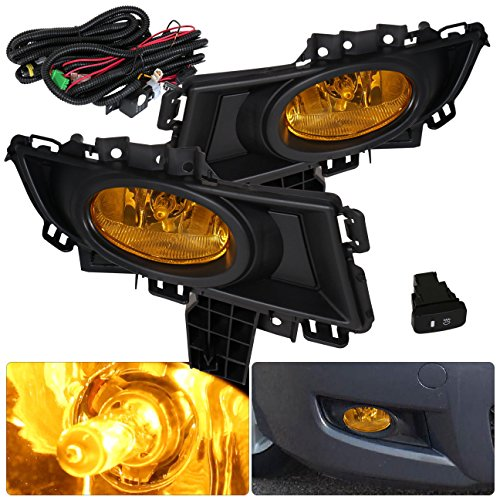 For Mazda 3 Sedan 4 Door Amber Fog Lights Lamp Front Driving Bumper Replacement Upgrade (Mazda 3 Fog Lamp compare prices)