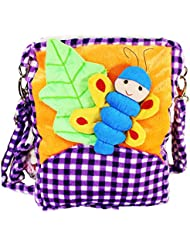 Tickles Multicolour Butterfly Sling Bag For Kids Girls 30 Cm
