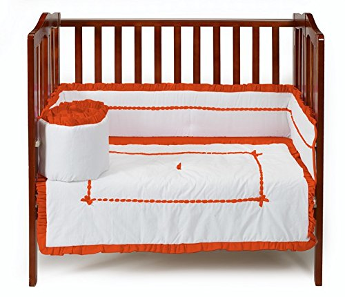 Baby Doll Unique Port-a-Crib Bedding Set, Orange