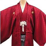 卒業式・成人式・結婚式 紋付 羽織袴フルセット 5サイズ7色/4号 ピンク