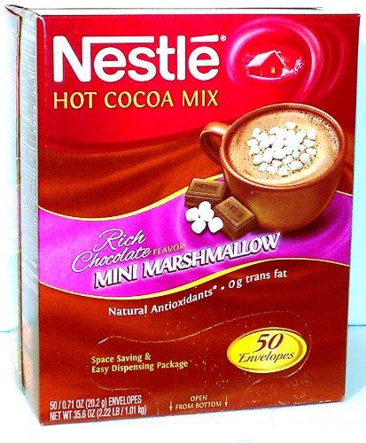 Nestle Hot Cocoa Mix with Mini Marshmallows 50 Envelopes