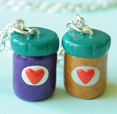Peanut Butter and Jelly Jar Best Friend Necklaces