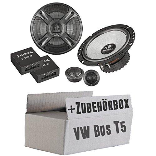 VW Bus T5avant-Helix-B 62eia-568-c.2-16cm-Système de haut-parleur 2voies Kit de montage