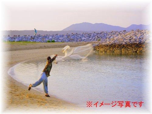 漁具を使って海・川・湖で大漁! 投網 1000目 網口円周16m 錆に強い鉛おもり使用