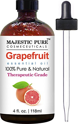 Grapefruit Essential Oil From Majestic Pure, Premium Quality Oil from Citrus Racemosa, Therapeutic Grade, 4 Fl Oz