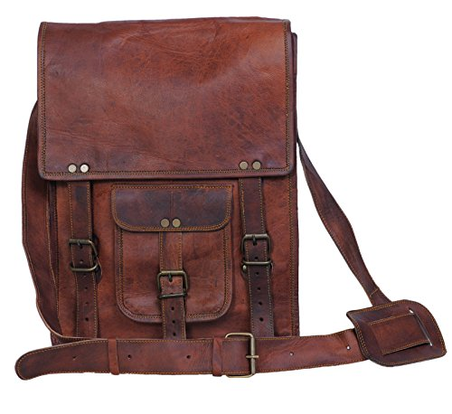 Best Review Of Komal's Passion Leather 11 Inch Brown Sturdy Ipad Leather Messenger Satchel Shoulder ...