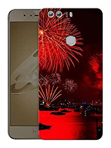 "New Year Fireworks Printed Designer Mobile Back Cover For ""Huawei Honor 8"" (3D, Matte, Premium Quality Snap On Case)"