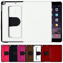 AirCase Premium Leather 360 Degree Rotatable Slim Portfolio Case for iPad Mini Retina[PEARL WHITE]
