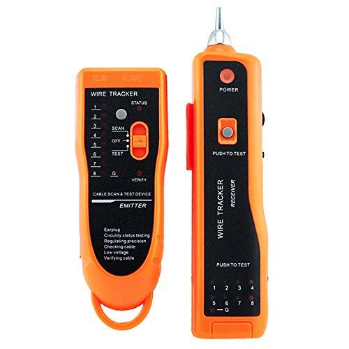 Carejoy-Utility Handheld XQ-350Wire Tracker Linea telefonica RJ45RJ11CAT5cat6LAN Tester per cavi di rete lan ethernet Generatore di rilevatore di scansione per diagnosi Kit di attrezzi