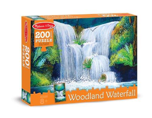 Melissa & Doug Woodland Waterfall Cardboard Jigsaw Puzzle, 200-Piece - 1