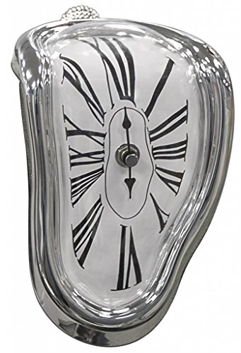 Jumbl™ Novelty Melting/Time Warp Clock - Sits on Shelf to Create Illusion of a Timepiece Melting Down